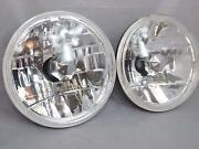 7 Inch Universal Round Glass Crystal Clear Headlights Diamond With H4 Bulb