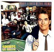 Huey Lewis And The News + 2 Signed Autographed Lp Vinyl Sports Jsa V77514