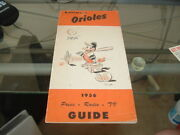 1956 Baltimore Orioles Spring Training Roster Media Guide Schedule Natty Boh