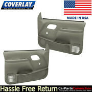 Coverlay Replacement Door Panel Taupe Gray 18-59n-tgr Manual Lock And Window Only