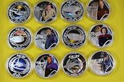 2015/18 Tuvalu Silver 1 Proof Star Trek 12 Coin Collection Very Rare W/ogp/coa
