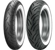 Dunlop Elite White Wall Mt90b16 Front/rear Tire Set Indian Chief Deluxe Spirit