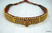 22kt Gold Beads Choker Necklace Vintage Antique Gold Jewelry Tribal