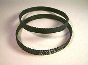 2 Replacement Rubber Toothed Motor Belts For Gmc Sander Model Bd1500 Usa