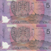 Australia And039macfarlane - Evansand039 Test Note Polymer 5 1997 Uncirculated 2 Notes