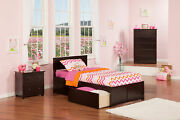 Orlando Twin Xl Platform Bed With Flat Panel Foot Board And 2 Urban Bed Drawe...