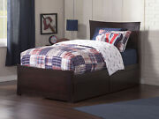 Metro Twin Platform Bed With Matching Foot Board With 2 Urban Bed Drawers In ...