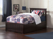 Mission Twin Platform Bed With Matching Foot Board With 2 Urban Bed Drawers I...
