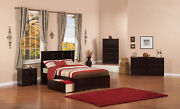 Madison Full Platform Bed With Flat Panel Foot Board And 2 Urban Bed Drawers ...