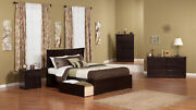 Metro Queen Platform Platform Bed With Flat Panel Foot Board And 2 Urban Bed ...