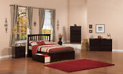 Mission Full Platform Bed With Flat Panel Foot Board And 2 Urban Bed Drawers ...