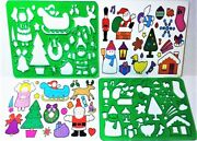 Christmas Holiday Stencils Use Forever Heavy Duty Mint/factory Sealed Shackman