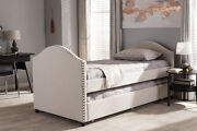 Baxton Studio Alessia Modern And Contemporary Fabric Upholstered Daybed With ...