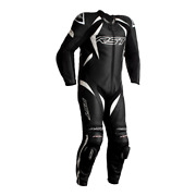 Rst Tractech Evo 4 Black/white 1pc Motorbike Leather Racing Suit Race Hump
