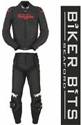 Furygan Raptor Black/red Leather Motorbike Sports Jacket And Trousers Ce