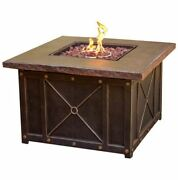 Hanover Summrnght1pcfp 40 In. Square Gas Fire Pit With Durastone Top