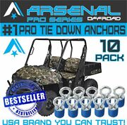 Polaris Twist And Lock 1.3 Pro Tie Down Anchors For Ranger And General 10pc