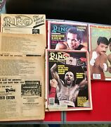 Lot Of 6 Vintage The Ring Boxing Magazine 1978-1984