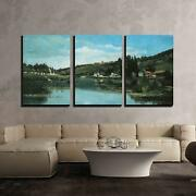 Wall26 - The Marne At Chennevieres By Camille Pissarro - Cvs - 16x24x3 Panels