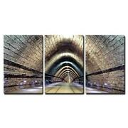 Wall26 - Tunnel With Railroad And Tram - Cvs - 24x36x3 Panels