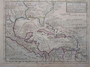 1732 Herman Moll A Map Of The West-indies And C Mexico Or New Spain America Caribe