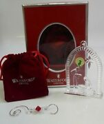 2007 Waterford Nativity Holy Family Clear Crystal Ornament In Box