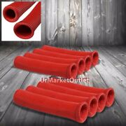 8x Red 6 Spark Plug Wire Cable Heat Shield Sleeve Protector Cover/wrap/boot