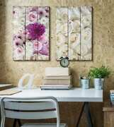 Wall26 - Elegant Roses Placed On A Wooden Background - Cvs - 24x36 Inches