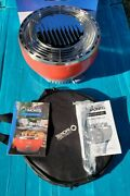 New Montel Living Well Portable Electric Battery Outdoor Grill Red W/recipe/bag