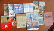 Western U.s. California Travel Lot X 10 Items Maps Booklets Rr Ephemera Views