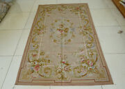 4and039x6and039shabby Chic Pastel Pink Natural Pure Silk Rug Floral Handmade Bedroom Decor