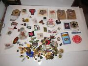 Large Lot Of Lapel Pins And Pin Backs - 618 Grams Tw - Unsearched Lot - Tub Mmmm2