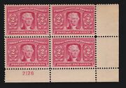 Us 324 2c Louisiana Purchase Expo Issue Block 4 W/plt F-vf Og 1lh/3nh Scv 200