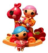 Lalaloopsy Dolls Littles Stumbles And Squirt Littles And Horse Rocker And Stroller