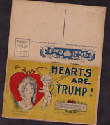 1906 Hearts Are Trump 6 Page Sections Post Cards Set Love/heart/kiss Cards.