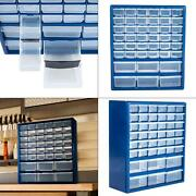 Compartment Storage Box Small Parts Drawer Cabinet Organizer 42 Bins Drawers New