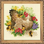 Riolis 1480 Hen Counted Cross Stitch Kit Aida 14 Count