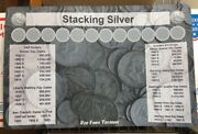 11 X 17 Silver Stack Coin Roll Hunting Mat - Rubber Backed And Safe For Coins