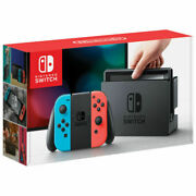 Nintendo Switch Console Neon Blue/red Joy-con With Minecraft + Pro Controller