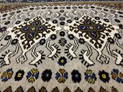 Masterpiece Vintage 1950-1960and039s Wool Pile Muted Dye Dowry Rug 5x7ft