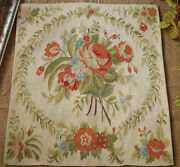 1.58and039 Silk Oliver Wreath And Red Roses Chic And Exquisite Aubusson Tapestry Canvas