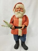 Vintage 1920and039s Santa Woodcutter Papier Mache Germany Candy Container 14