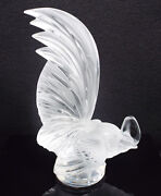 Lalique France Crystal Coq Nain Rooster Figurine Paperweight 11800 8 1/4