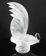 Lalique France Crystal Coq Nain Rooster Figurine Paperweight 11800, 8 1/4