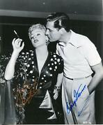 Shelley Winters Autograph Signed Photo Actress And Actor Craig Stevens Peter Gunn