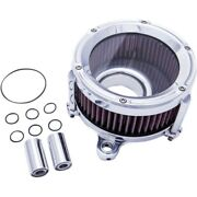 Trask Chrome Assault Charge Stage 1 High Flow Air Cleaner Harley Touring Tbw 08-