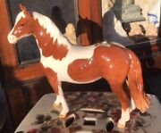 Beswick Horse Pinto Pony Second Version Skewbald Brown/white Gloss No1373