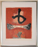 Listed Japanese Artist Kumi Sugai, Signed Original Color Lithograph Abstract