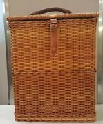 Abercrombie And Fitch Vintage Lunch Or Picnic Basket 2 Thermos And 1 Lunch Box