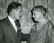 1960 Nelson Rockefeller And Eleanor Roosevelt Candid Event Photo